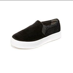 Sam Edelman   Velvet Flatform Slip On Sneaker